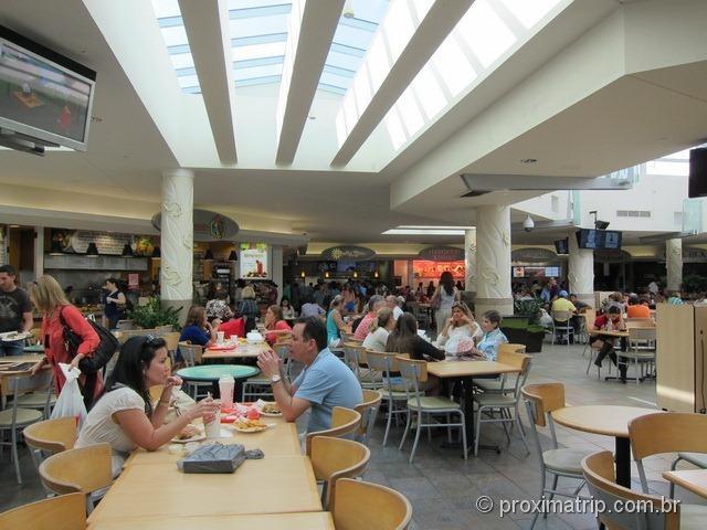 Praça de alimentação - Shopping Dadeland Mall em Miami