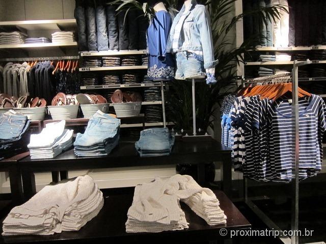 Roupas Hollister - Shopping Dadeland em Miami
