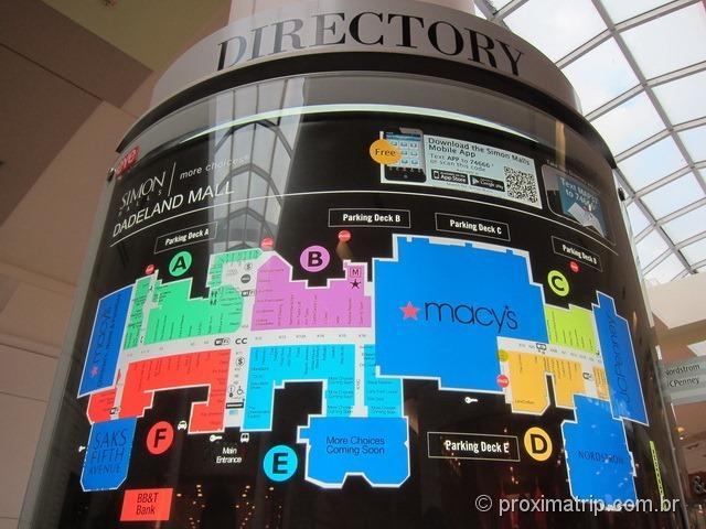 Lojas Dadeland Mall em Miami
