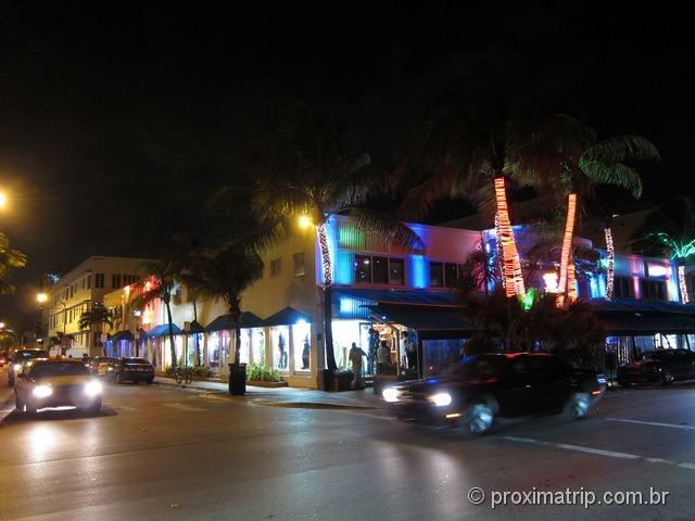 Miami South Beach - passeio na ocean drive à noite