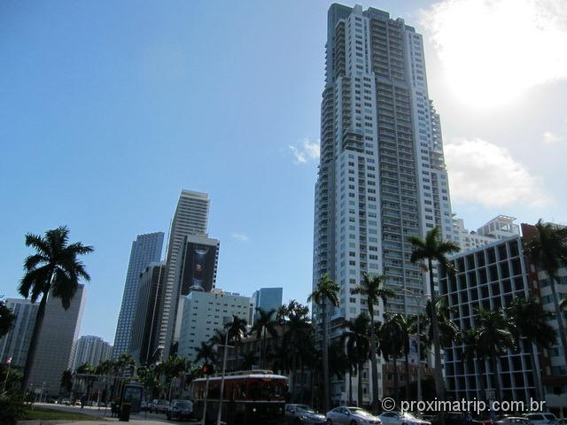 Downtown Skyline de Miami visto do American Airlines Arena