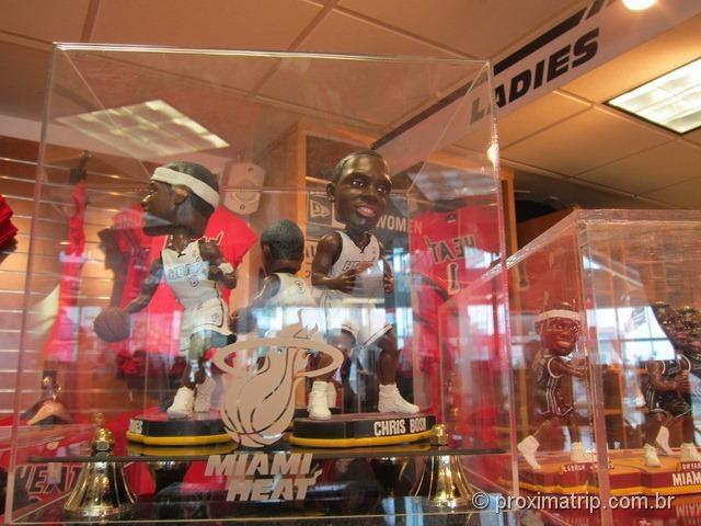 Loja do Miami Heat - Jogadores em miniatura