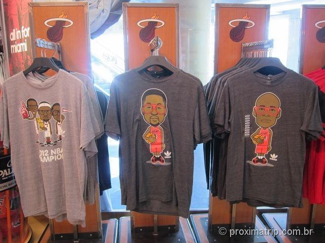 Loja do Miami Heat - camisetas