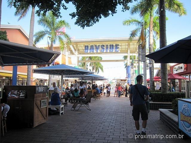 Lojinhas no Bayside Market Place Miami