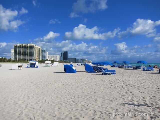 Locação de cadeiras de praia - Miami South Beach