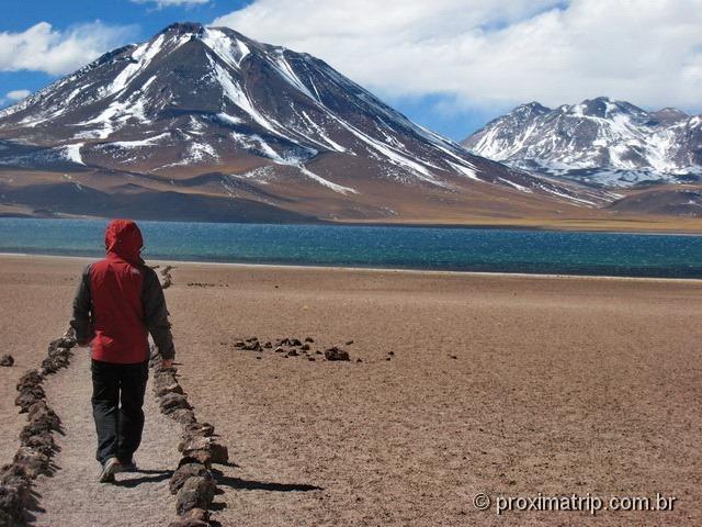Lagunas altiplanicas e Vulcão Miscanti, com seus 5.622 metros de altitude