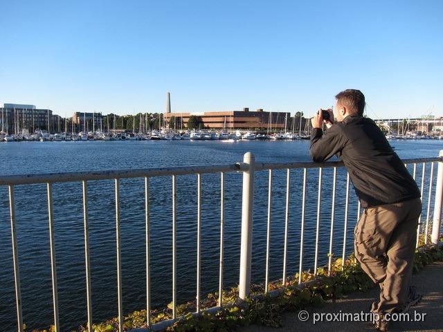 Cruzando o Charles River - Freedom Trail - Boston