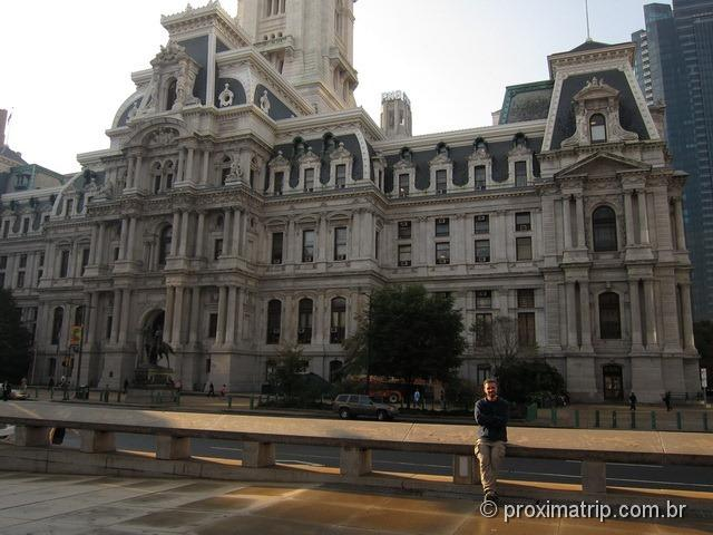 o imponente City Hall - Philly - Estados Unidos