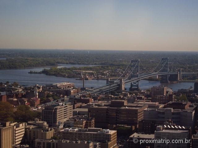 Ponte Benjamin Franklin - visto da Torre/Mirante do City Hall