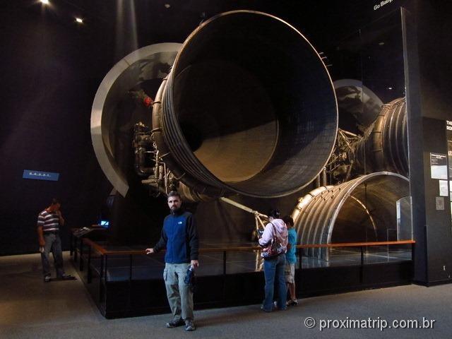 bocal da combustão de um foguete - Museu Nacional Aero-Espacial - Washington DC