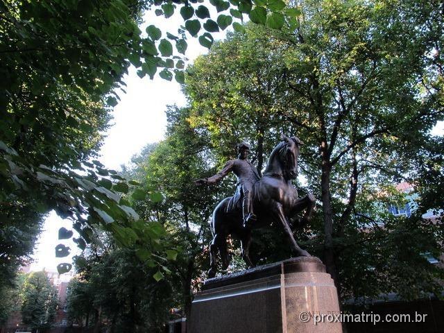 estátua de Paul Revere - Freedom Trail - Boston