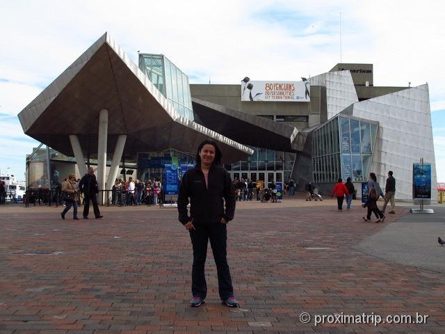 Entrada do New England Aquarium - Boston - Estados Unidos