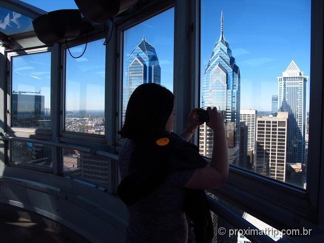 Torre/Mirante do City Hall - dá para ver a cidade da philadelphia bem do alto!
