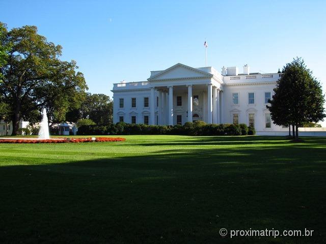 Casa Branca em Washington DC - fachada norte