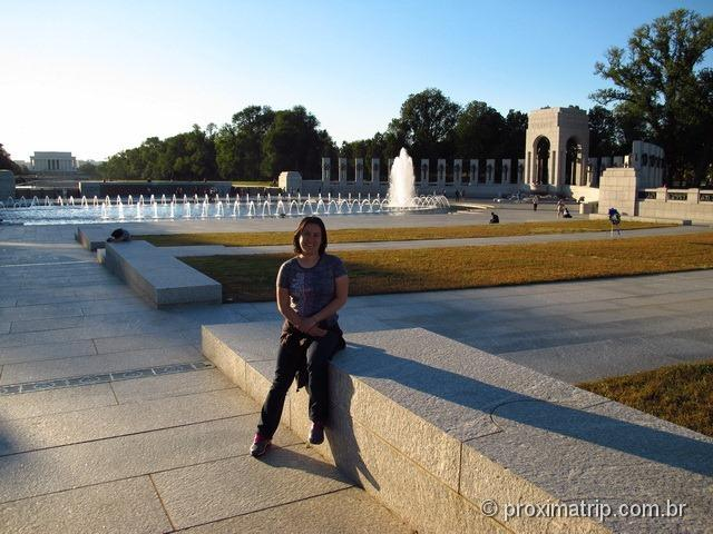 World War II Memorial - cada pilar representa um estado - Washington DC