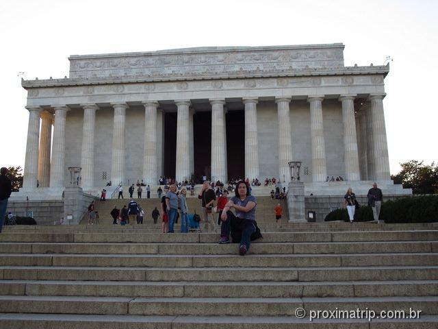 Escadaria em frente ao Lincoln Memorial - Washington DC