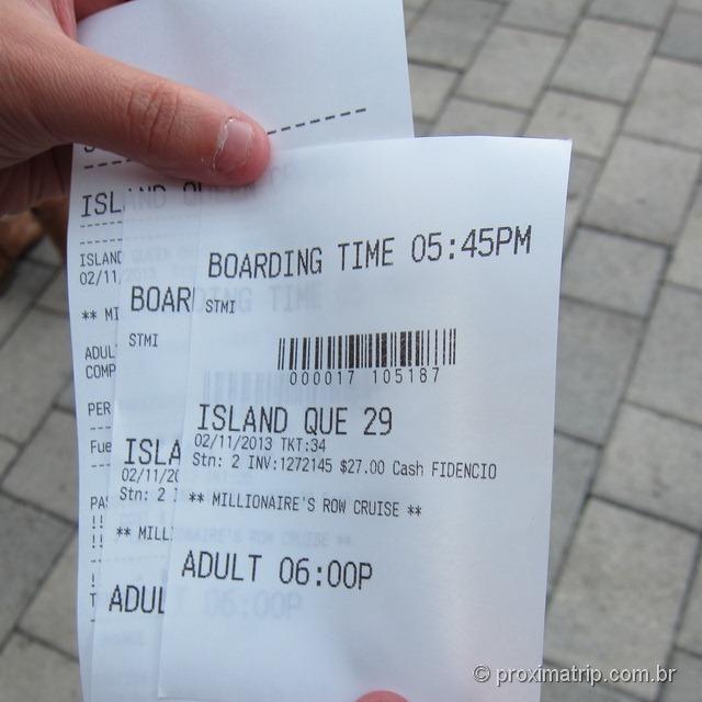 Ticket do sightseeing cruise - Passeio de barco em Miami - Bayside Market Place