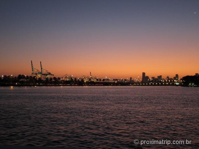 Porto de Miami - visto do passeio de barco