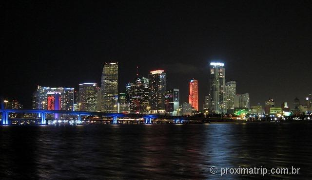 Skyline de Miami - visto do sightseeing cruise
