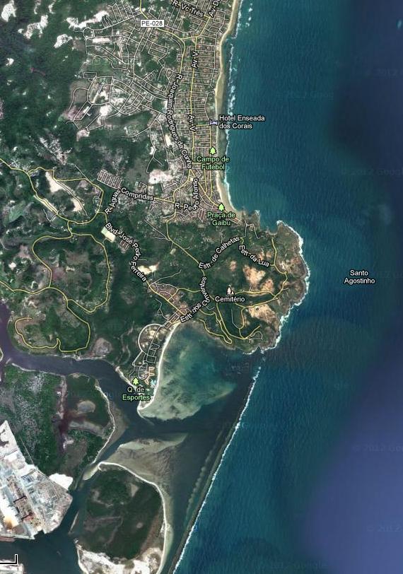 mapa localização Cabo de Santo Agostinho