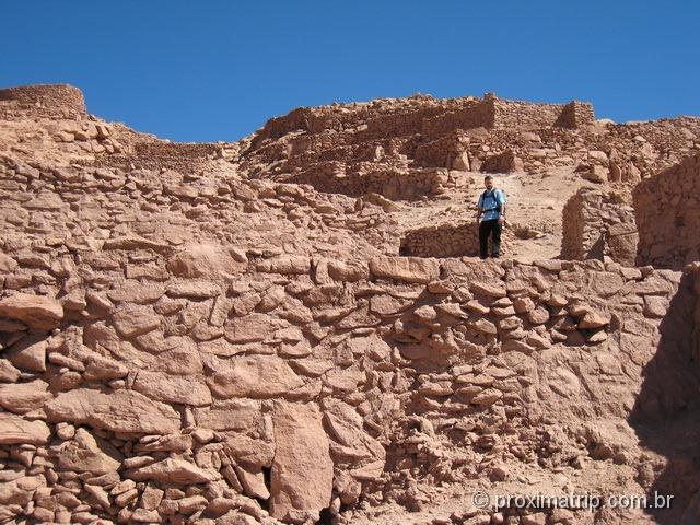 Ruínas Pukara Quitor Deserto Atacama