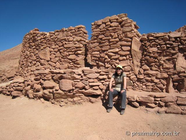 Ruínas de Pukara de Quitor - trecho melhor conservado
