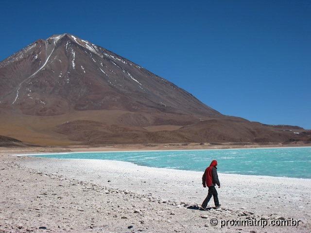 Laguna Verde e vulcão Licancabur - Reserva Nacional Eduardo Avaroa - Bolívia