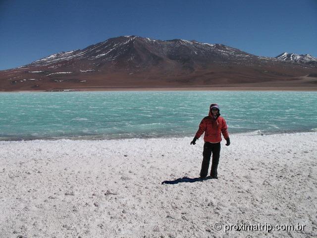 Laguna Verde margem espuma branca Bolívia