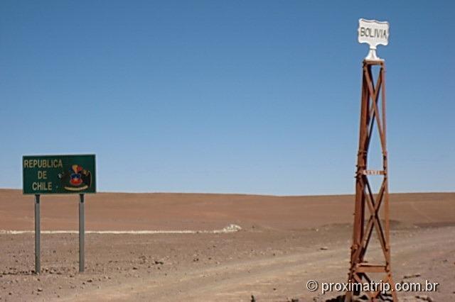 Fronteira Chile Bolívia deserto Atacama