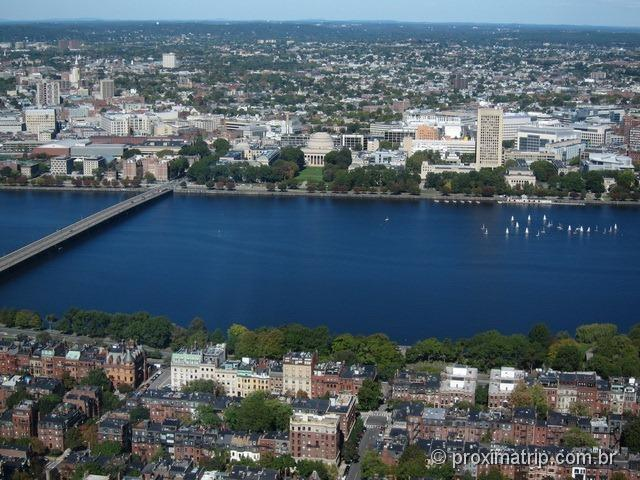 Charles River e o MIT vistos do Prudential Tower
