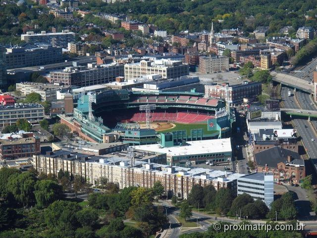 O Fenway Park visto observatório Skywalk - Prudential Tower