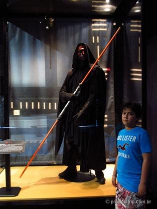 Boneco do Darth Maul no American Film Institute Showcase - Disney hollywood studios - Orlando