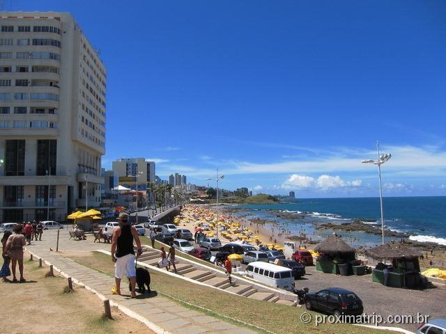 Vista da praia da barra aos pés do Farol - Salvador - Bahia