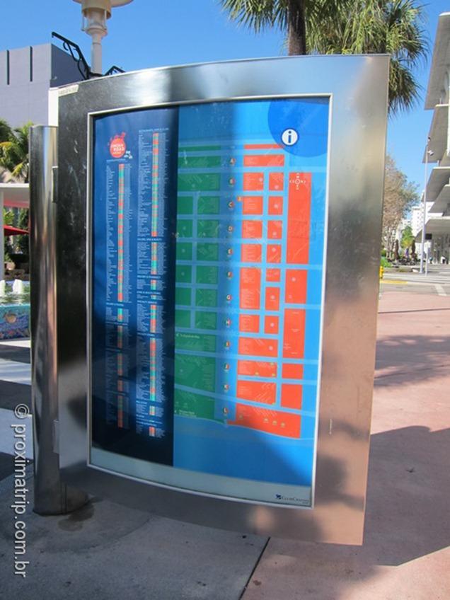 Mapa lojas Lincoln Road Miami