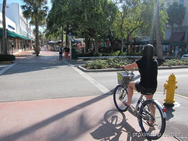 Pedalando na Lincoln Road - Miami