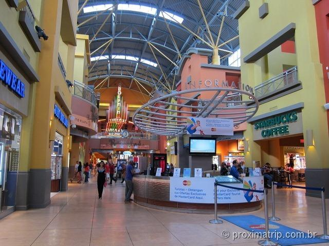 shopping/outlet Dolphin Mall por dentro - Miami