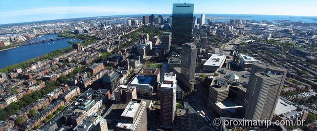 Panorâmica do cidade de boston vista do Skywalk - Prudential Tower