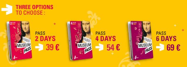 paris museum pass preços