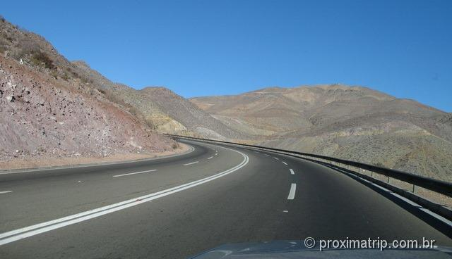 RN5 (Panamericana)trecho montanhoso Santiago Cópiapó
