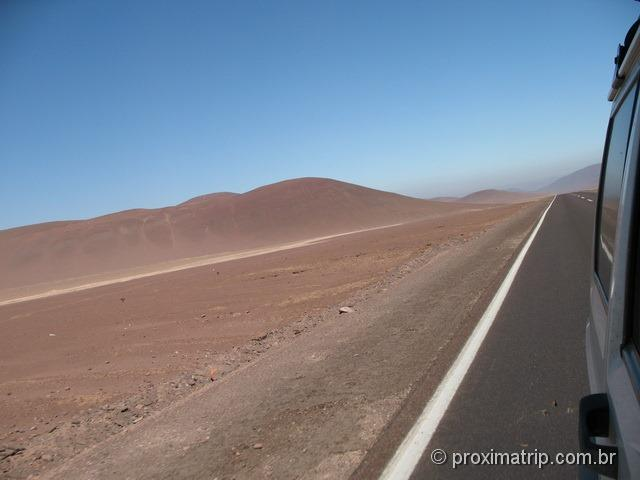 Carretera Panamericana RN5 trecho deserto entre Copiapó e Antofagasta