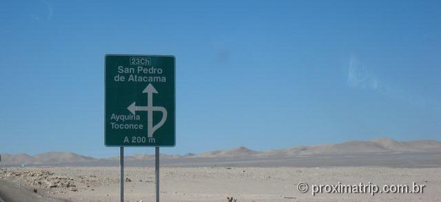Acesso RN23 - trecho Antofagasta - São Pedro de Atacama