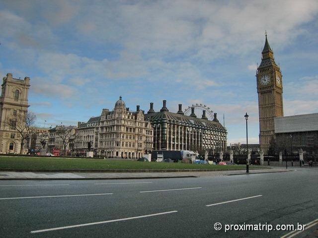 Parliament Square, Big Ben e London Eye