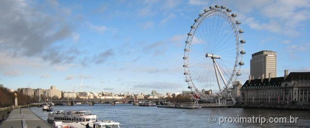London Eye visto da ponte de Westminster