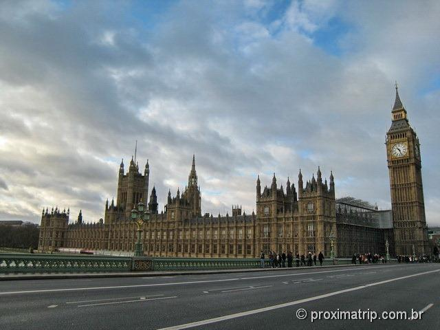 Westminster Bridge, Parlamento e o Big Ben