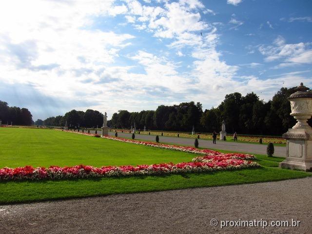 Jardim florido do Castelo de Nymphenburg