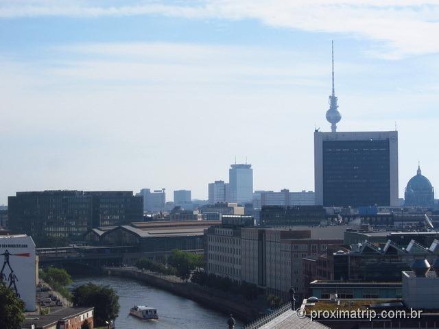 Vista terraço Käfer Reichstag Berlim