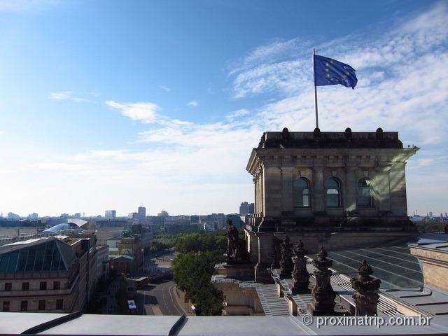 Vista do terraço do Reichstag - Parlamento Alemão, Berlim