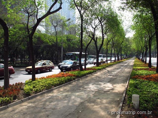 avenida paseo reforma passeio florido pedestres Auditório Nacional Polanco