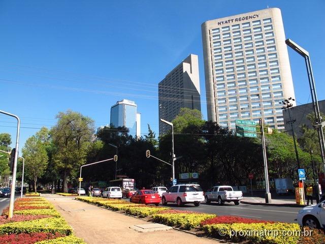Av. Paseo de La Reforma - Bairro de Polanco - Cidade do México