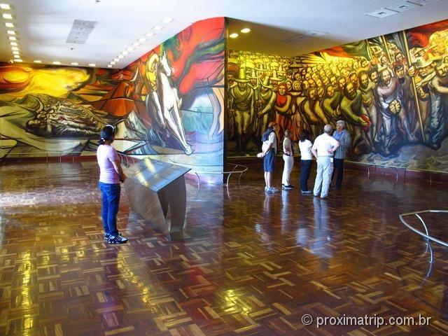 Lindo mural no Museu Nacional de História - Cidade do México